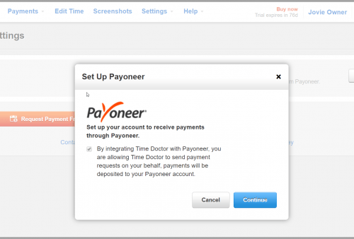 payoneer option