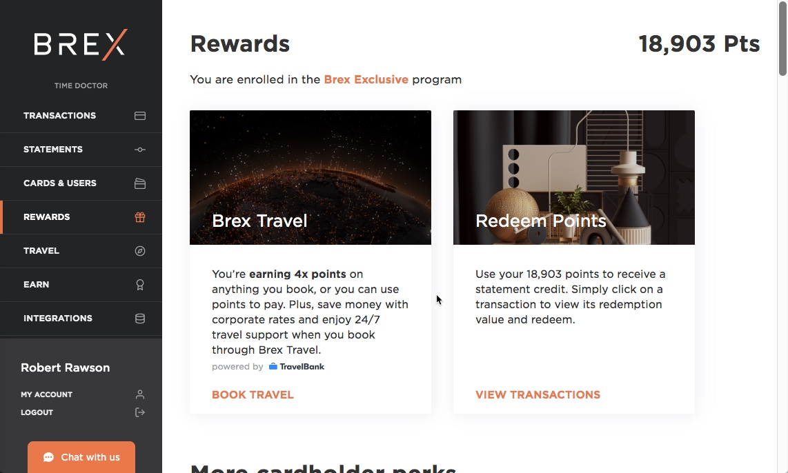 Brex rewards